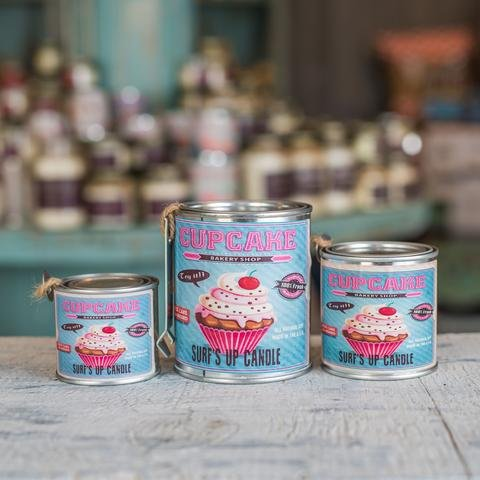 Surf's Up Candle Cupcake Paint Can Candle, Quarter Pint