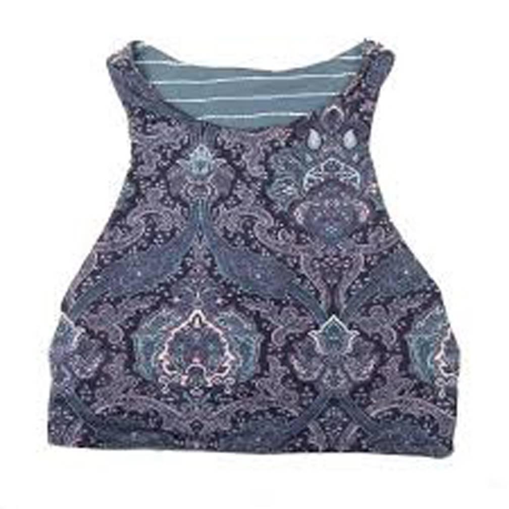 Carve Designs W's Sanitas Reversible Top, Water Stripe/Indigo Paisley