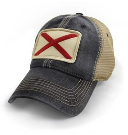 S.L. Revival Co. Alabama Flag Trucker Hat, Black