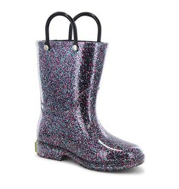 Western Chief Kid's Glitter PVC Rain Boot, Multi