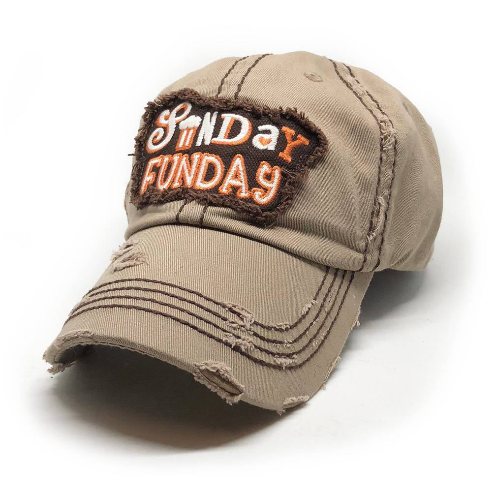 Trailer Trash Love Sunday Funday Hat, Khaki