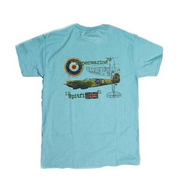 S.L. Revival Co. Supermarine Spitfire Heritage T-Shirt, Sky