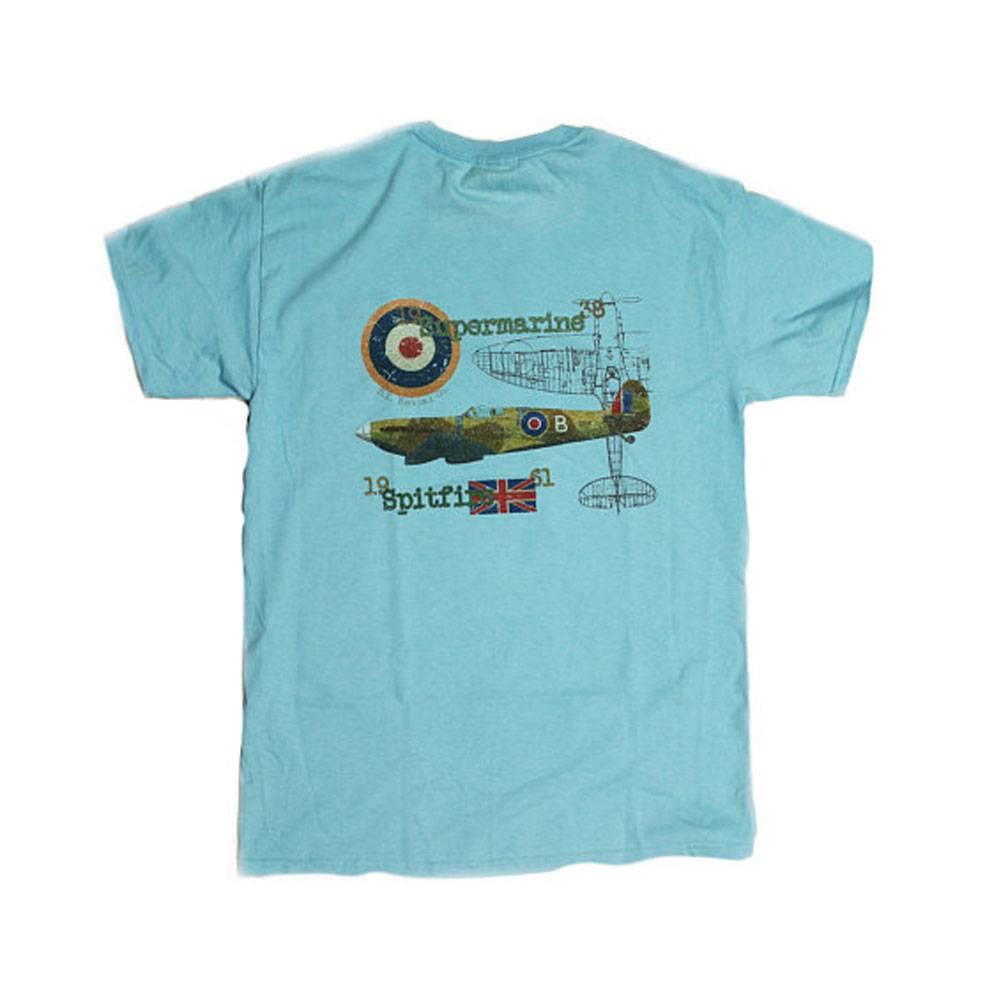 S.L. Revival Co. Supermarine Spitfire Heritage T-Shirt, Sky