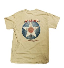 S.L. Revival Co. Grumman F4F Wildcat Fighter Heritage T-Shirt, Sand