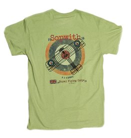 S.L. Revival Co. F.1 Sopwith Camel Fighter Heritage T-Shirt, Pistachio