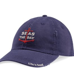 Life is Good A Sunwashed Chill Seas The Day Anchor Cap, Dust Blue