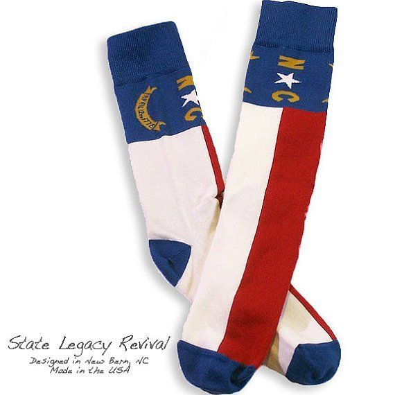 S.L. Revival Co. NC State Flag Socks