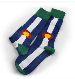 S.L. Revival Co. Colorado State Flag Socks, Medium