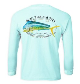 Surf, Wind and Fire Dorado Lotto Mahi Fish Club, L/S, UPF 50, Teal