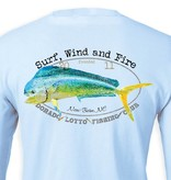 Surf, Wind and Fire Dorado Lotto Mahi Fish Club, L/S, UPF 50, Light Blue