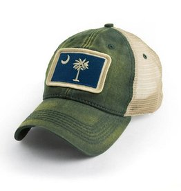 S.L. Revival Co. SC Flag Trucker Hat, Green