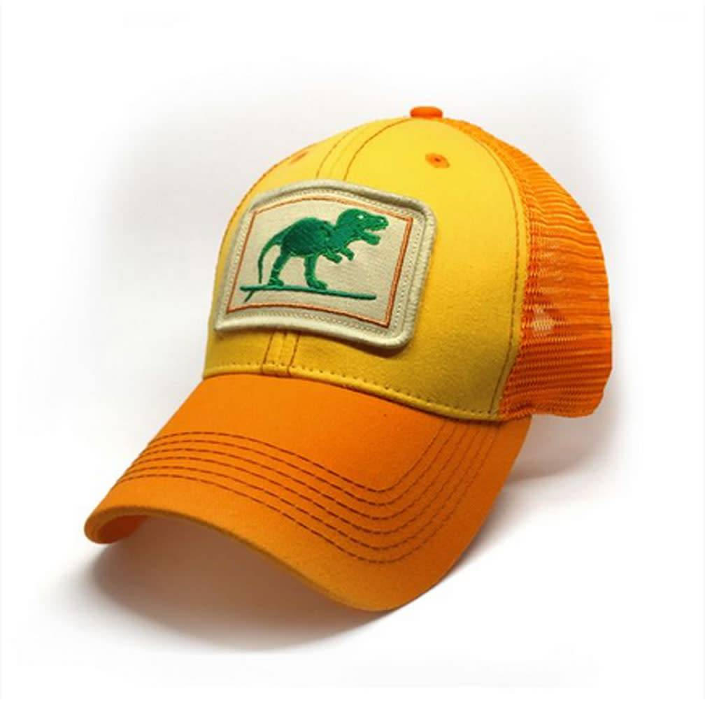 S.L. Revival Co. Surfing T-Rex Structured Trucker Hat, Sunshine
