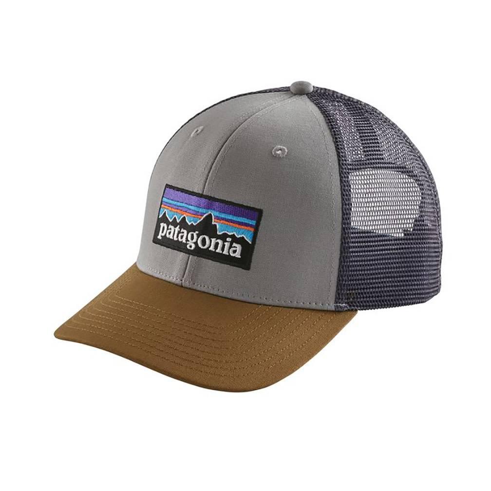 Patagonia P-6 Logo LoPro Trucker Hat, Drifter Grey w/Coriander
