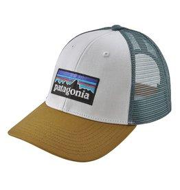 Patagonia P-6 Logo Trucker Hat, White w/Kastanos