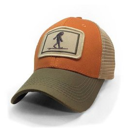 S.L. Revival Co. Everyday Trucker Hat, Structured, Surfing Sasquatch, Burnt Orange and Olive