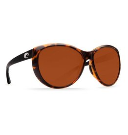 Costa Del Mar La Mar Retro Tortoise with Black Temples Copper 580P