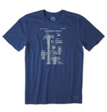 Life is Good Men's ReInvention Hammer Crusher Tee, Darkest Blue