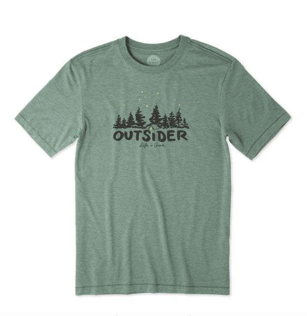 Life is Good Men's Outsider Cool Tee, Forest Green