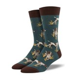 Socksmith Men's Get to the Pointer Socks, Teal Heather