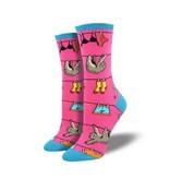 Socksmith Sloth on a Line Socks, Pink