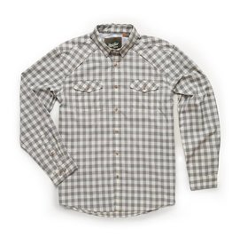 Howler Brothers Howler Brothers Firstlight Tech Shirt - Holden Plaid Tonal Grey