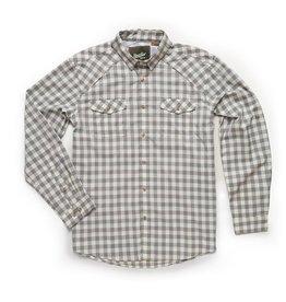 Howler Brothers Howler Brothers Firstlight Tech Shirt - Holden Plaid Tonal Grey