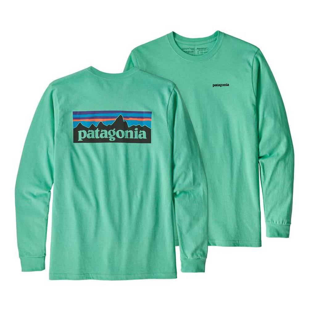 Patagonia Patagonia Long Sleeve P-6 Logo Responsibili-Tee, Vjosa Green