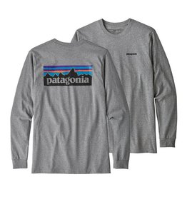 Patagonia Patagonia Long Sleeve P-6 Logo Responsibili-Tee, Gravel Heather