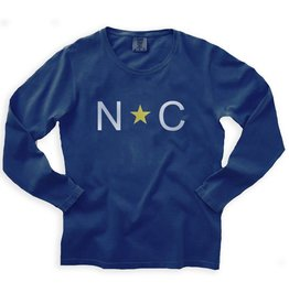 S.L. Revival Co. Our Simple NC Tee, Oversized, Navy