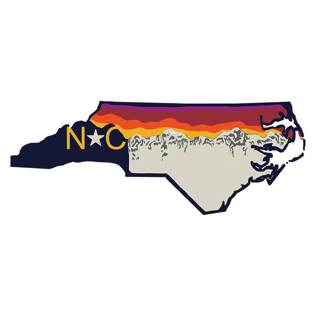 S.L. Revival Co. NC Mountains are Calling, Oversized, White