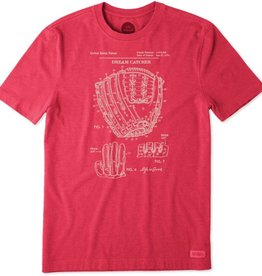 Life is Good Life is Good Men's Crusher Tee, Dream Catcher Blueprint, Red