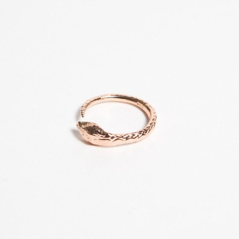 Pamela Love Serpent Ring, Size 8 Rose Gold