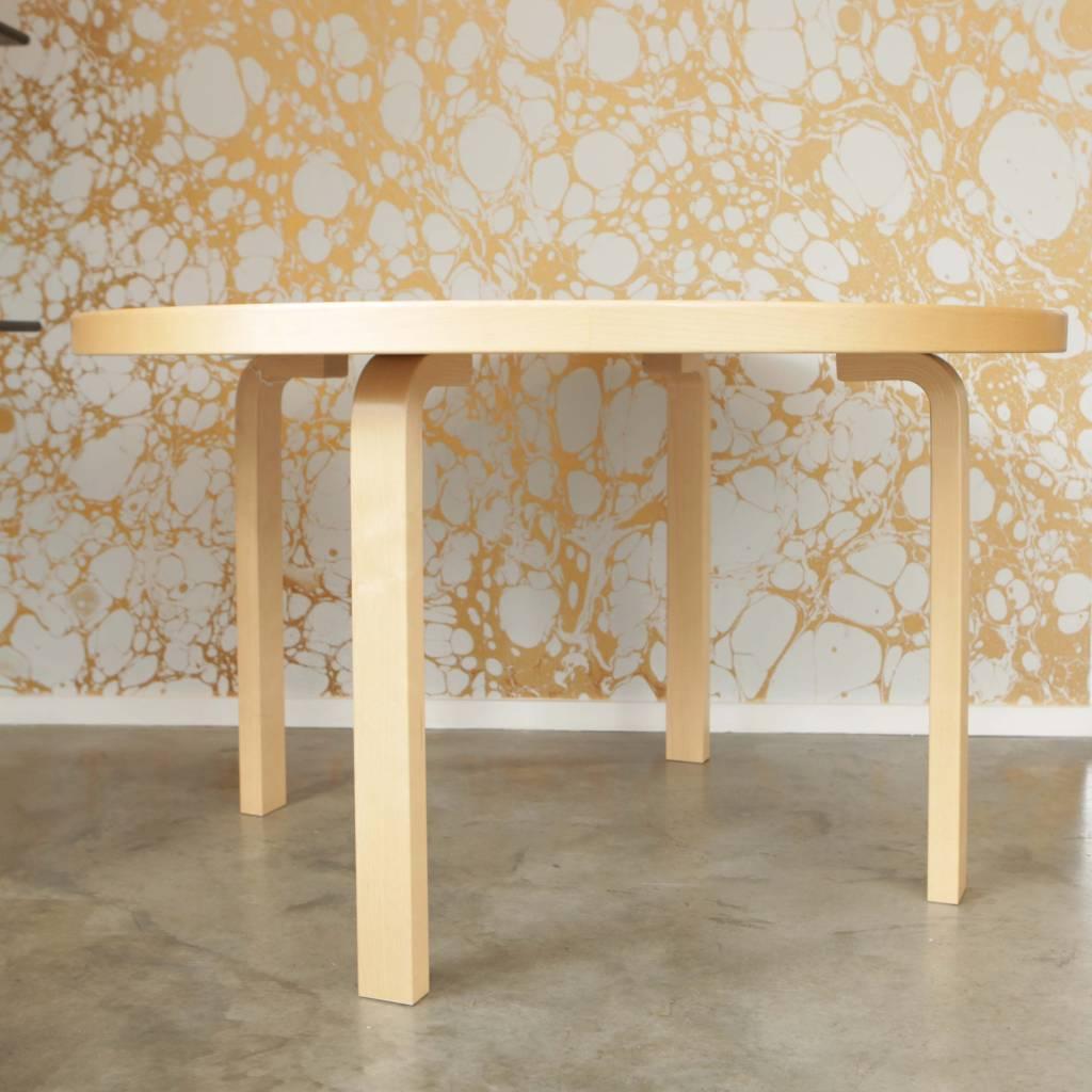 Artek Table 91 in Black Linoleum