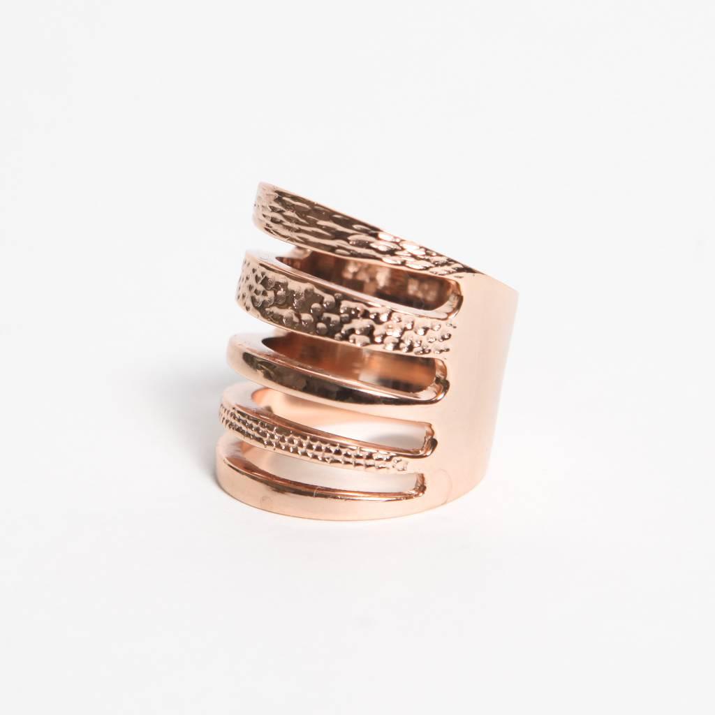 Pamela Love Single Cage Ring - Rose Gold Over Sterling Size 8