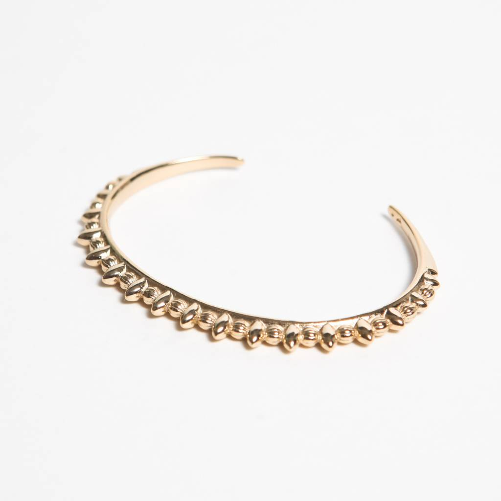 Pamela Love Thin Tribal Spike Cuff, 14k Yellow Gold Plate