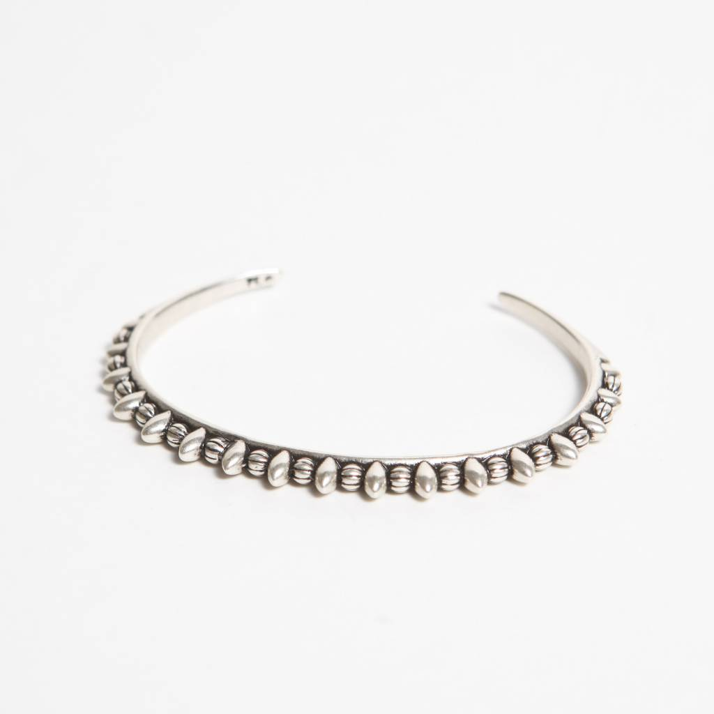 Pamela Love Thin Tribal Spike Cuff, Antique Silver Plate