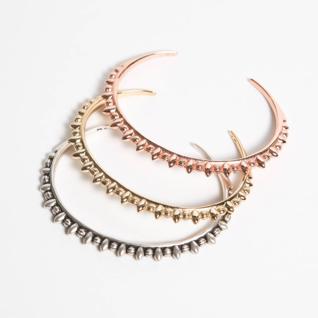 Pamela Love Thin Tribal Spike Cuff, Rose Gold Plate