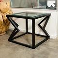 Alex Drew & No One Two Diamonds Side Table in Ebonized Walnut
