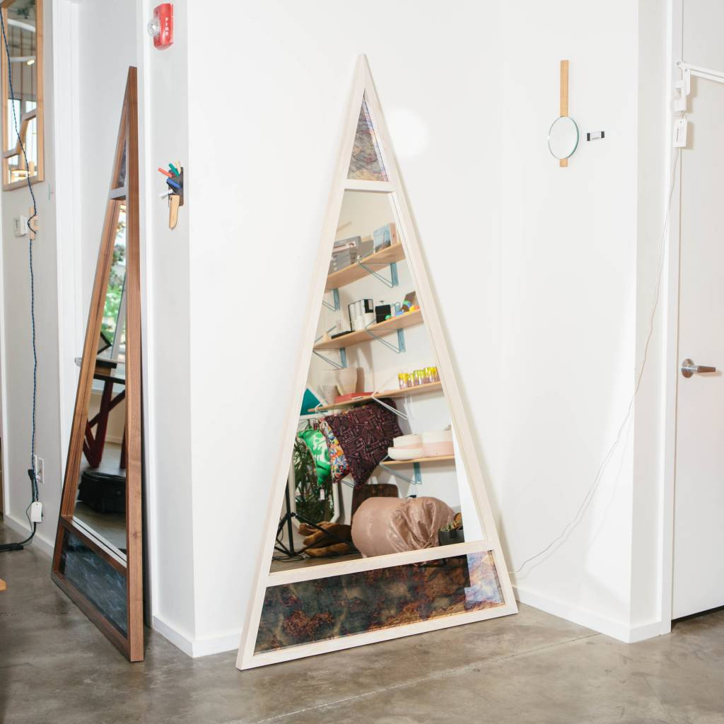 Alex Drew & No One Scale Mirror, Ash with Antiqued Glass