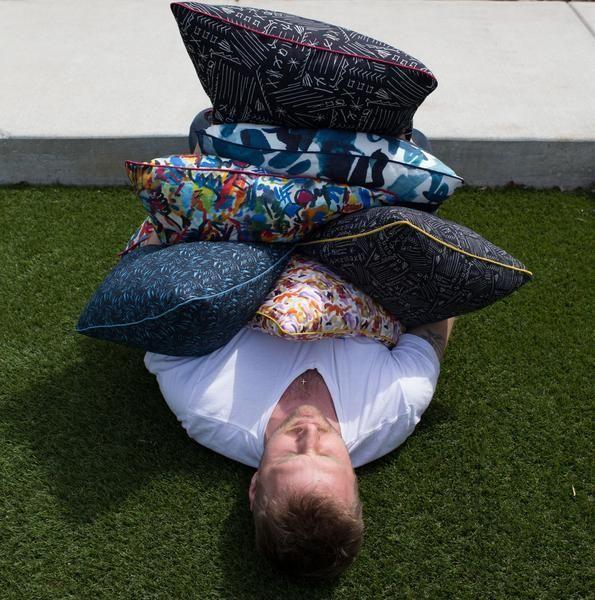 """electra eggleston Bali Indigo 18"""" Pillow"""
