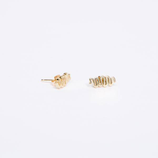 Dream Collective Squiggle Studs, pair, 14k Gold
