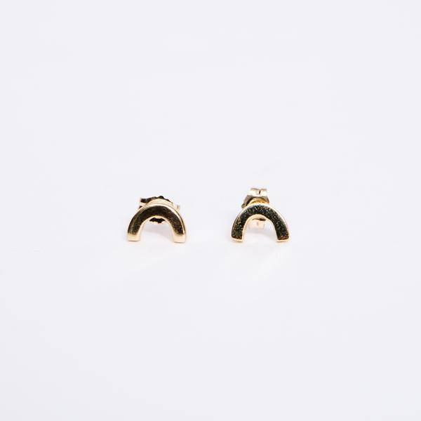 Dream Collective U Studs, pair, 14k Gold