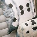 """Eskayel Dynasty Indigo 24"""" Pillow"""