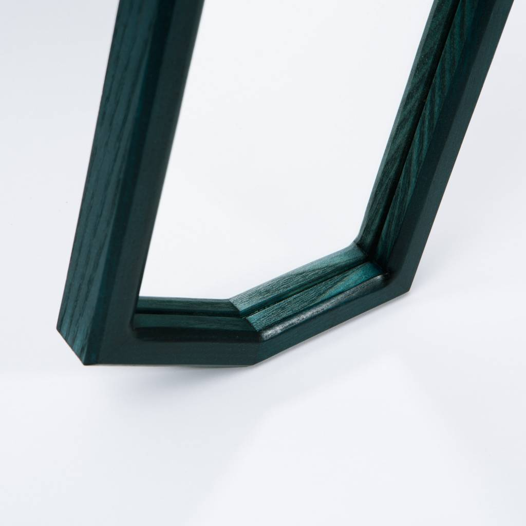 Alex Drew & No One Mirrored Bottom Tray dyed phthalo green