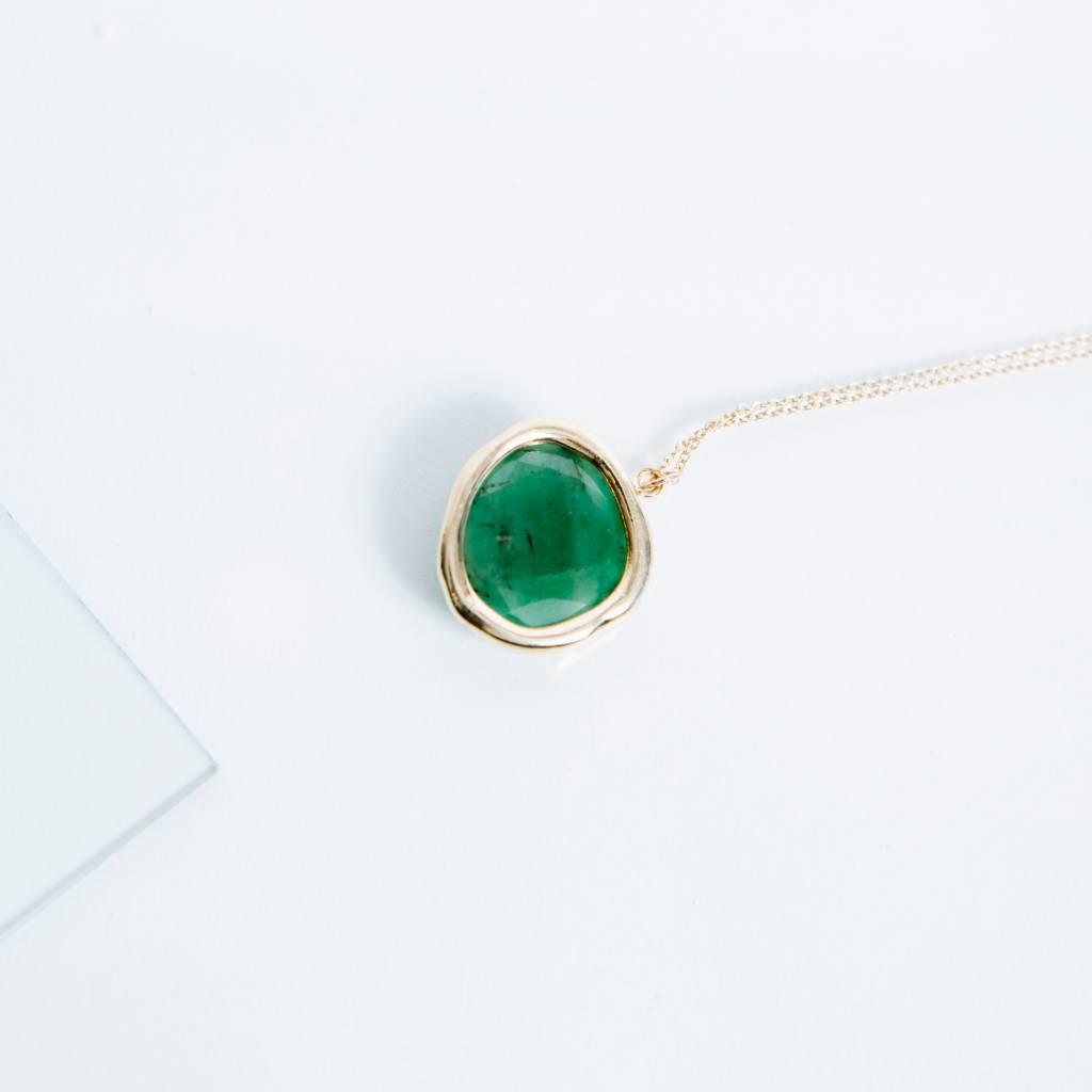 Kathryn Bentley Fine Jewelry Emerald Organic Amulet