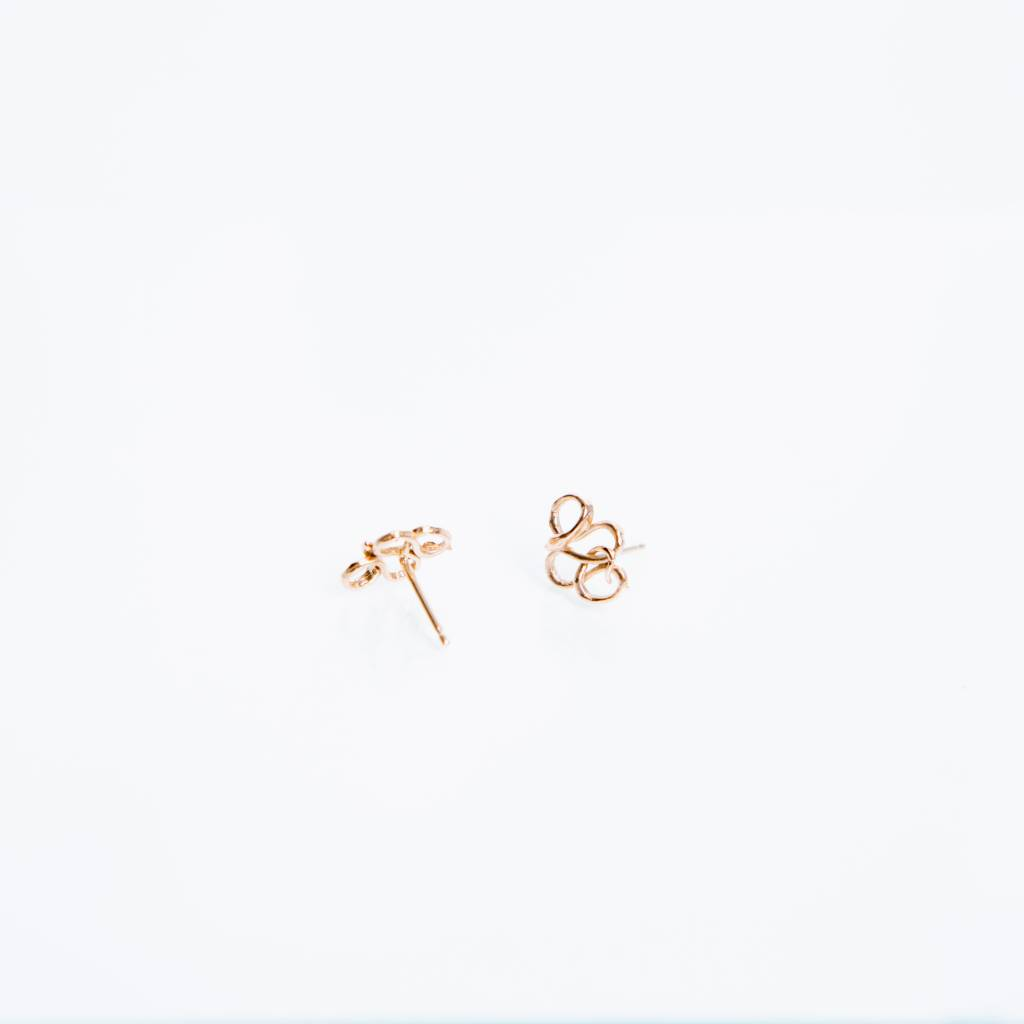 Kathryn Bentley Fine Jewelry Snake Studs, Rose Gold