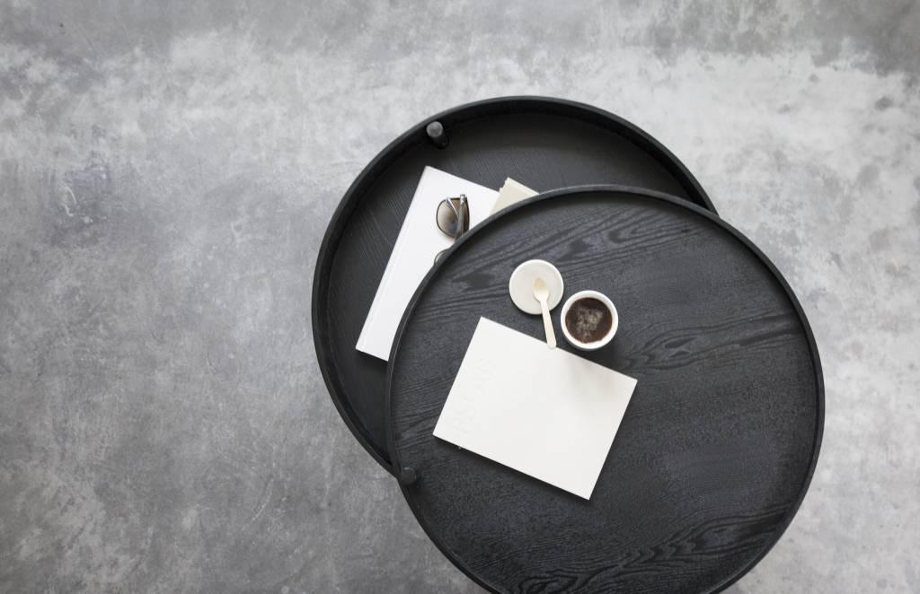 Menu Turning Table, Black Ash