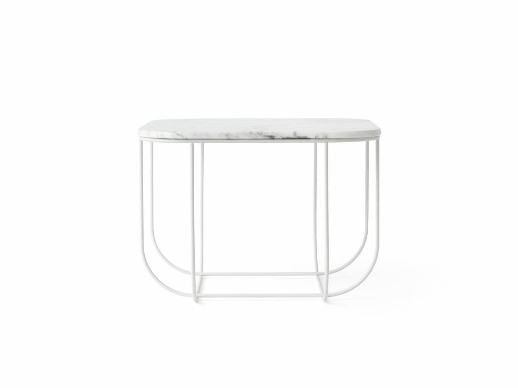 Menu Cage Table  White/White Marble