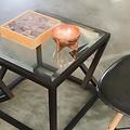Alex Drew & No One Two Diamonds Cocktail Table in Ebonized Walnut