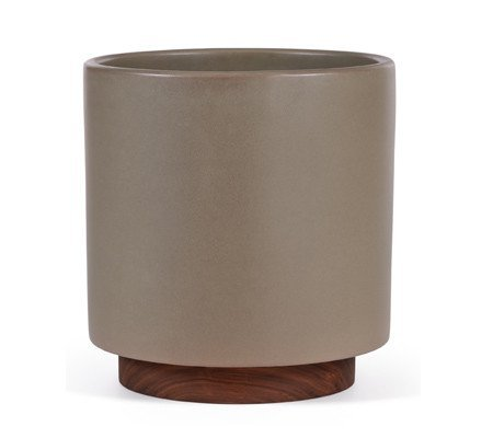 Case Study Ceramic Funnel w  Wood Stand   Small   Modernica   HORNE Case Study Ceramic Bullet Planter with Wood Stand   Small